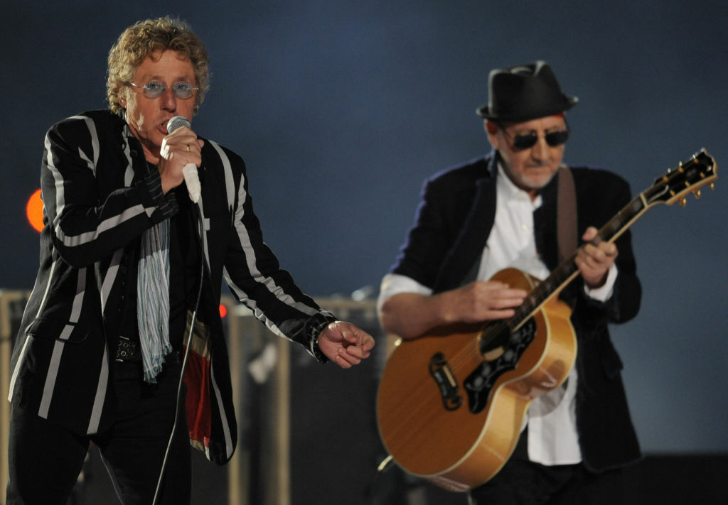 Roger Daltrey (L) and Pete Townshend of British rock band 'The Who' perform during the halftime show for the NFL's Super Bowl XLIV football game between the New Orleans Saints and the Indianapolis Colts in Miami, Florida February 7, 2010.