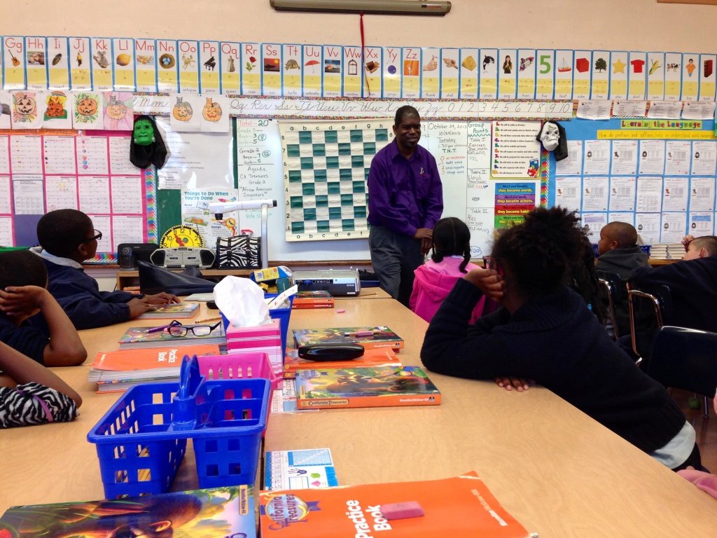Students at Baldwin Hills Elementary School, which has a Gifted High Ability Magnet Center.
