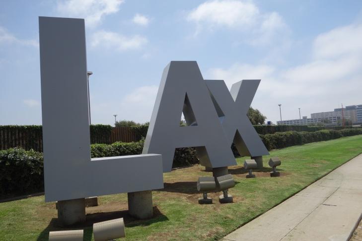 LAX signature monument letters
