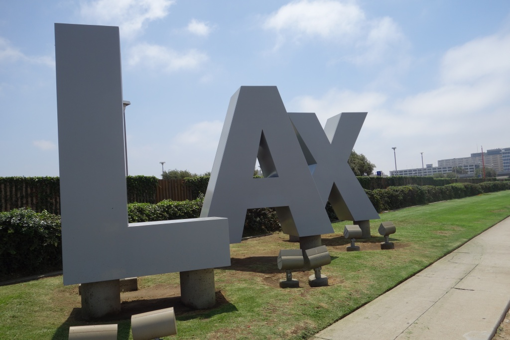 File photo: A sign outside LAX.