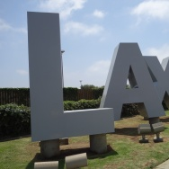 LAX signature monument letters