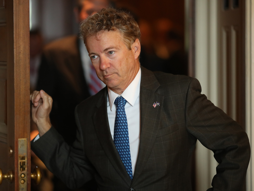Sen. Rand Paul, R-Ky., at the Capitol in 2018. Normally a close ally of President Trump, Paul announced that he would support a resolution to end Trump's emergency declaration to build a wall along the U.S.-Mexico border.