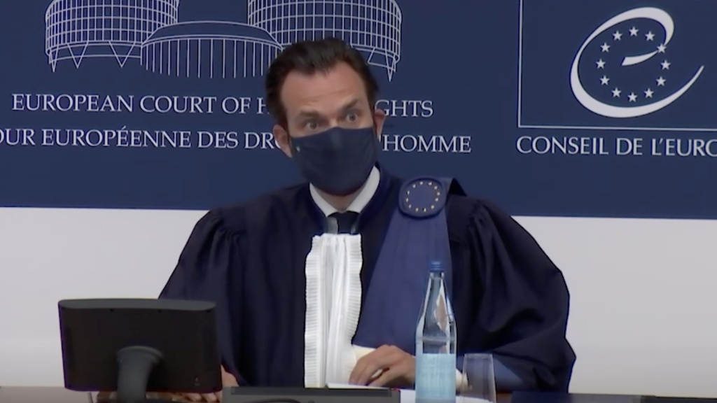 European Court of Human Rights President Robert Spano delivered the court's ruling on vaccine mandates, saying the benefits of such laws outweigh the intrusion into privacy.