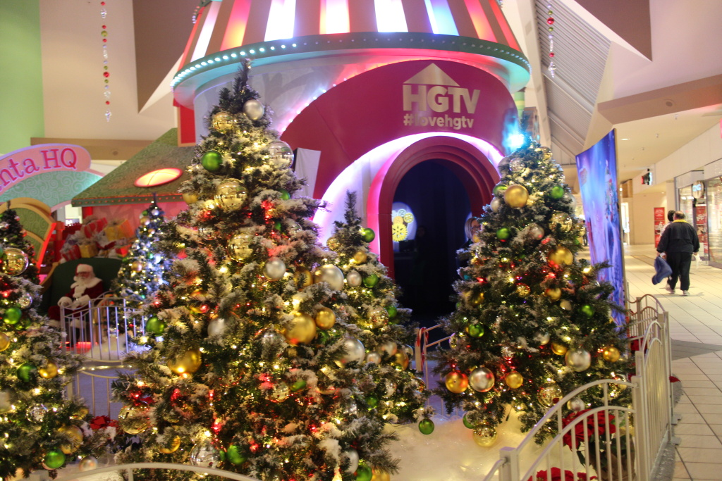 HGTV'S Santa HQ attraction stands in the Lakewood Center mall.