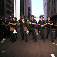 Violent Protests At Democratic National Convention