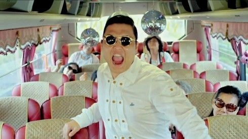 Screenshot from PSY's video for the song