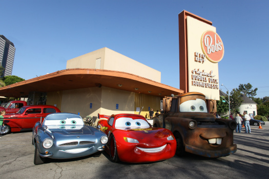 Lightning McQueen, Mater and Finn McMissile of