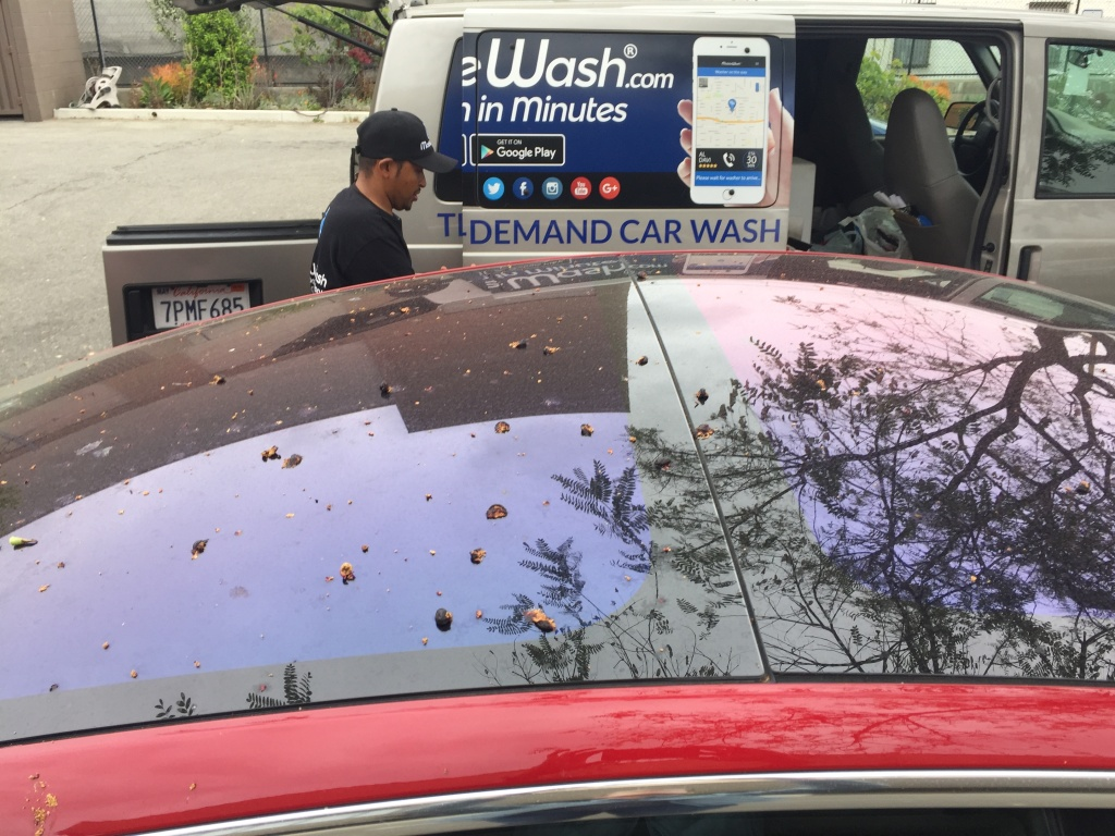 Mobile Wash and Washos are two L.A. companies that offer on-demand car wash services available through an app.