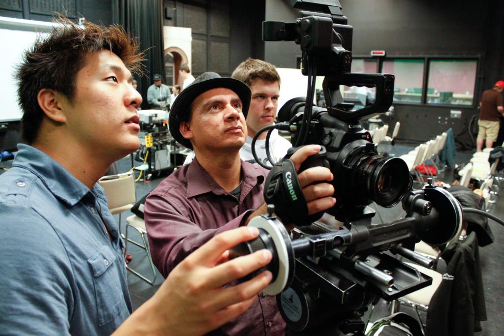 Cinematography students at work at CSU's Summer Arts school. This year CSU Summer Arts celebrates its 30th year.