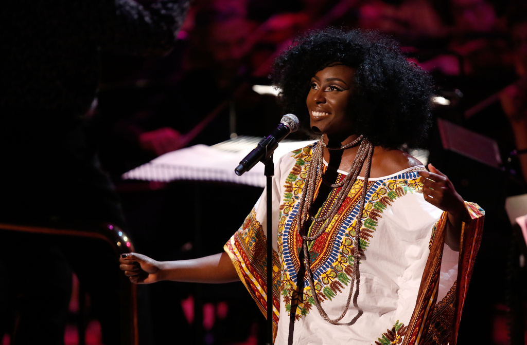 LONDON, ENGLAND - JULY 08:  Laura Mvula performs at 'Tim Rice - A Life In Song' at the Royal Festival Hall on July 8, 2014 in London, England.  (Photo by Tim P. Whitby/Getty Images)
