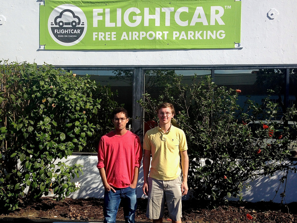 Even though they aren't old enough to rent a car themselves Kevin Petrovic, 19, (right) and Rujul Zaparde, 18, are trying to shake-up the $11 billion airport rental car market.