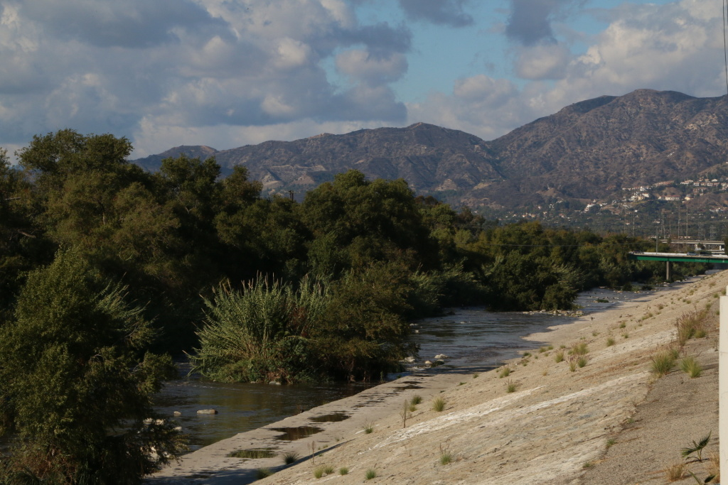 View of the Los Angeles River from the Bowtie Projects adjacent to the Elysian Valley neighborhood.