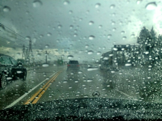 A rainy commute on I-210 near Rosemead, Thursday, Oct. 11, 2012.