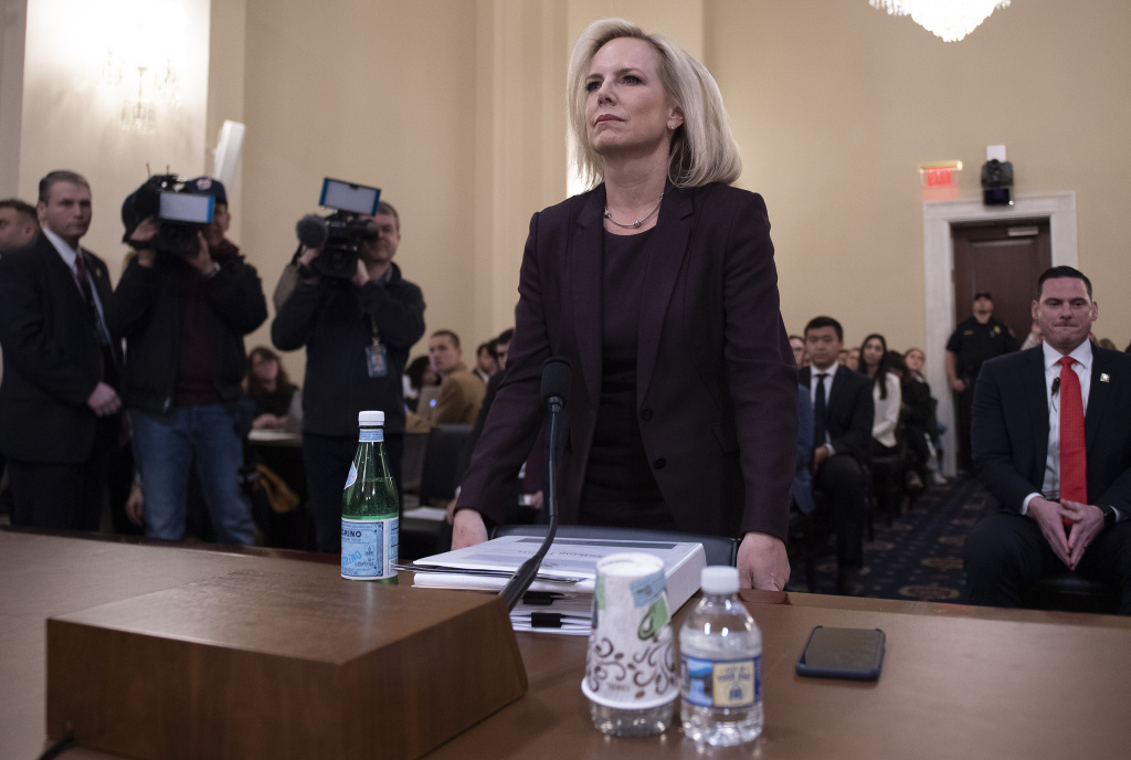 Homeland Security Secretary Kirstjen Nielsen testifies before the House Homeland Security Committee on border security on Capitol Hill in Washington, DC, March 6, 2019.