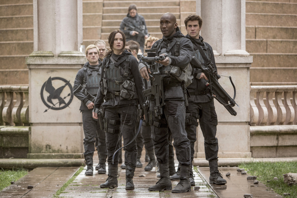 A scene from <em>The Hunger Games: Mockingjay Part 2</em> takes place in the fictional capital city Panem, which was filmed in Berlin.