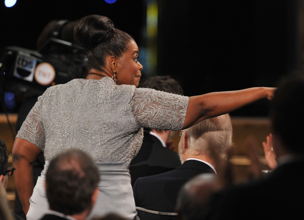 Actress Octavia Spencer accepts the Outstanding Performance by a Female Actor in a Supporting Role award for