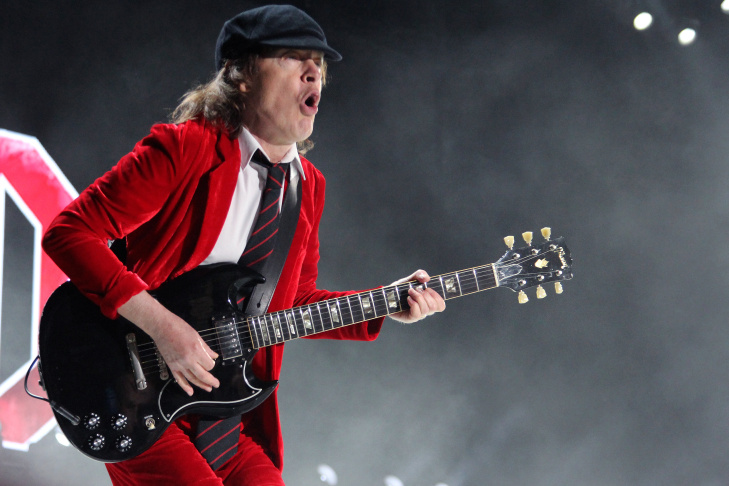 AC/DC closes out Day One of the Coachella Music Festival.