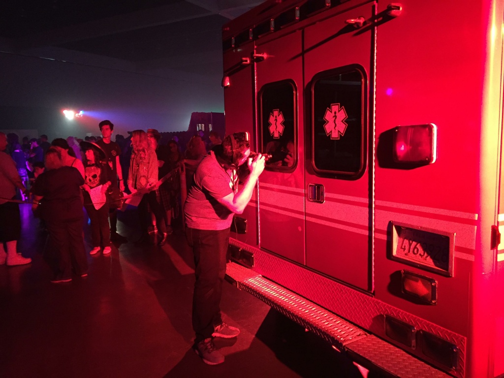 Viewers experience Flatline VR from inside of an ambulance, adding to the immersive elements.
