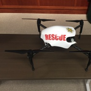 LA Sheriff's officials unveiled their first drone Thursday, January 12, 2017, at the Hall of Justice in downtown LA.