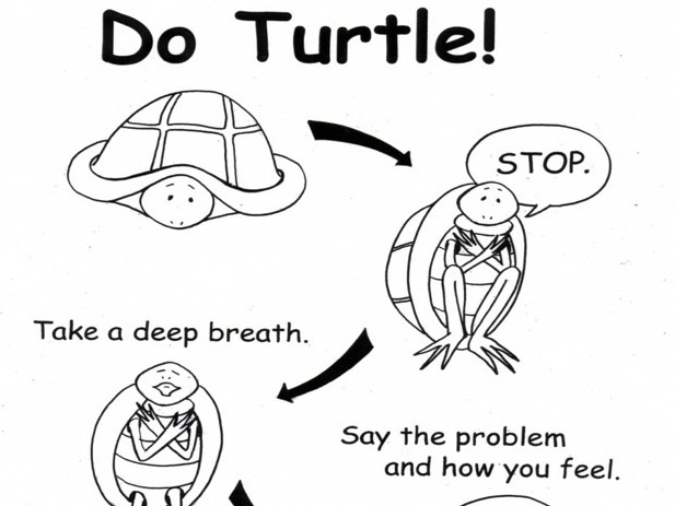 """Turtle"" is a technique used in the Preschool PATHs curriculum to help students learn to calm down."