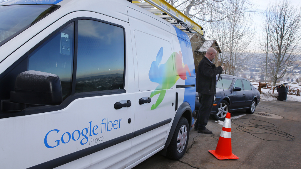 File: Google Fiber rolls out in Provo, Utah.