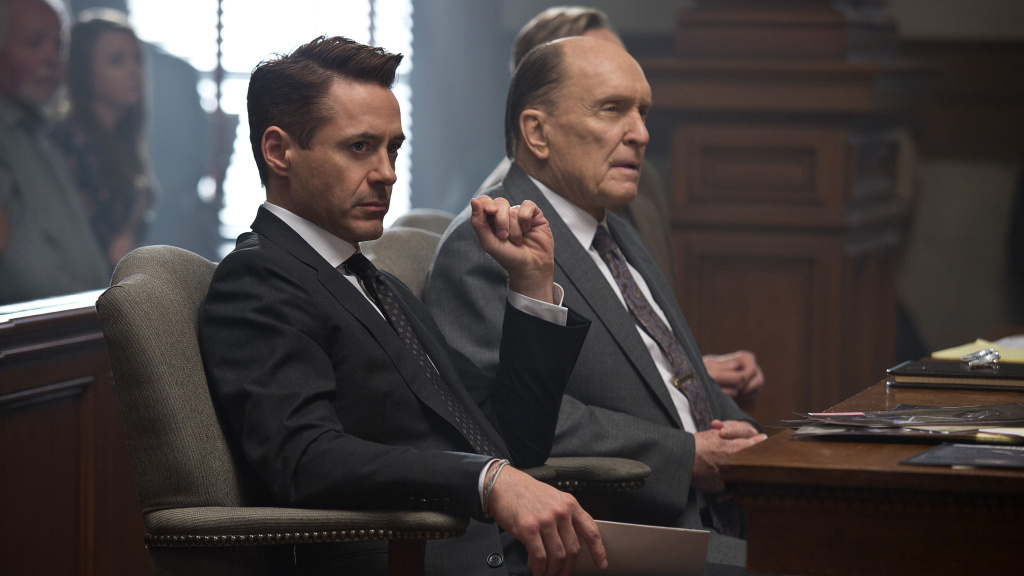 Robert Duvall (right) was nominated for Best Supporting Actor for his role in <em>The Judge</em>, which also starred Robert Downey Jr. The nomination left many critics scratching their heads.