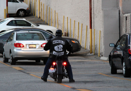 Will stripping the Mongols motorcycle club logo violate First Amendment rights?