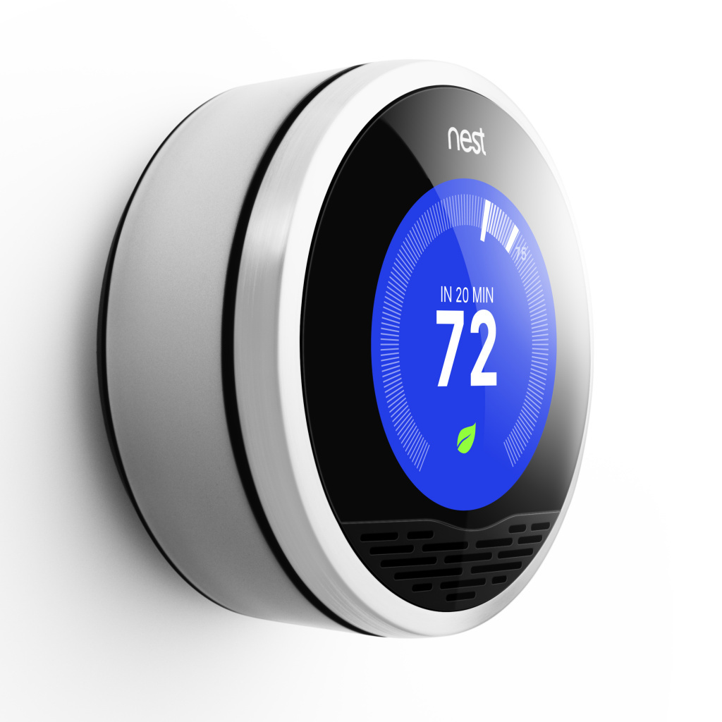 The Nest Learning Thermostat. The four-year-old company is now owned by Google.