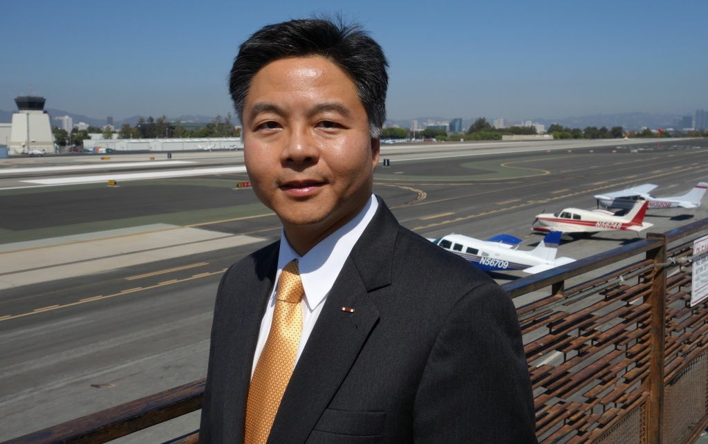 State Sen. Ted Lieu at Santa Monica Airport, Oct. 1, 2010.