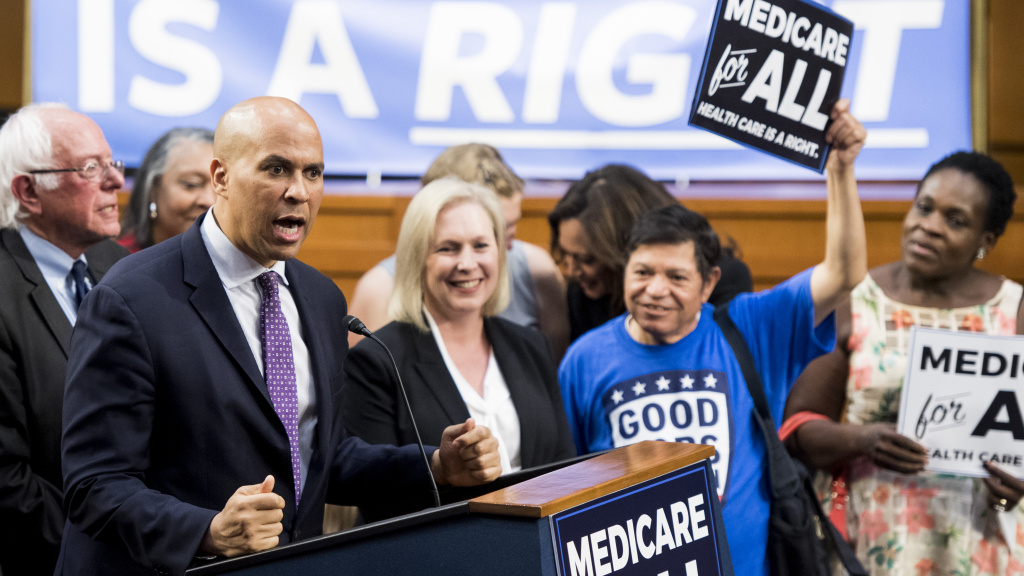 Sens. Cory Booker and Kirsten Gillibrand are among the presidential candidates to back Sen. Bernie Sanders'