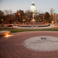 Mizzou Legacy Circle at the Mel Carnahan Quadrangle on the campus of University of Missouri in Columbia.