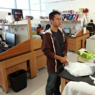 File: Brian Tom, 17, a Bravo Medical Magnet High School student, works in the stem cell research lab of USC's Keck School of Medicine.