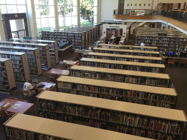 The Santa Ana Public Library will close on Friday for two weeks to rearrange the furniture to place more desks, tables, and chairs in the center of the library where staff can keep watch on patrons, including homeless people who library staff say sometimes misbehave. The library is also upgrading its electrical system and replacing flooring.