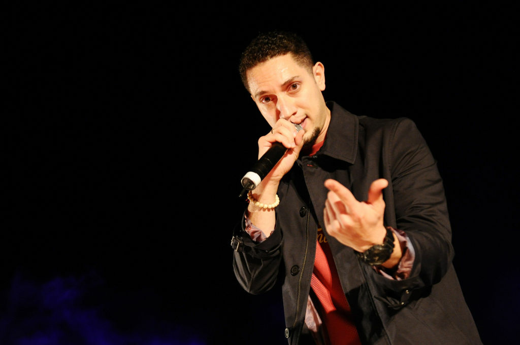 Omar Offendum performs at Arab Hip Hop Concert during the 2012 Doha Tribeca Film Festival at Katara Sony Open Air Cinema on November 18, 2012 in Doha, Qatar.