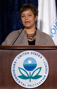 Environmental Protection Agency Administrator Lisa Jackson during a speech in Washington, D.C.