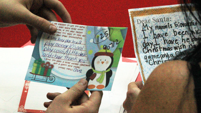 Hundreds of North Pole-bound letters that arrive at the USPS mail center in South Los Angeles will be read through and answered by Operation Santa volunteers. - See more at: http://www.californiareport.org/archive/R201312201630/b#sthash.CCRXKHfY.dpuf