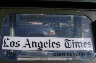 A Los Angeles Times vending machine.