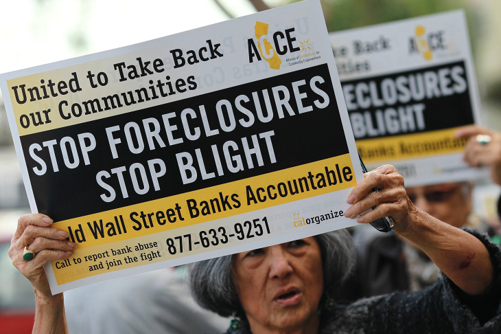 Activists Demonstrate In Support Of Homeowners Facing Foreclosures