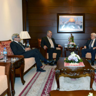 Abbas Meets With Israeli Arab Politician Mohammad Barakeh