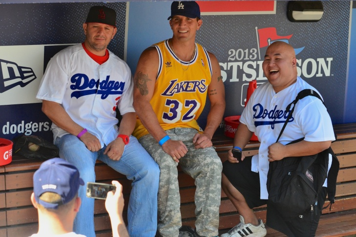 Veterans and their families and friends were invited to Dodgers Stadium for the Dodgers Veterans Day Batting Practice.