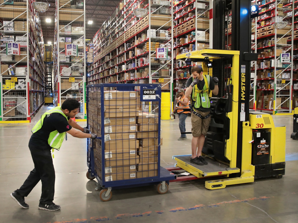 Amazon says it's planning to hire 100,000 U.S. workers to deal with increased demand during the coronavirus outbreak.