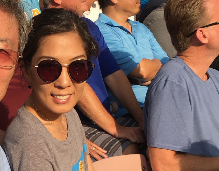 KPCC listener Michelle Kim attends a UCLA game.