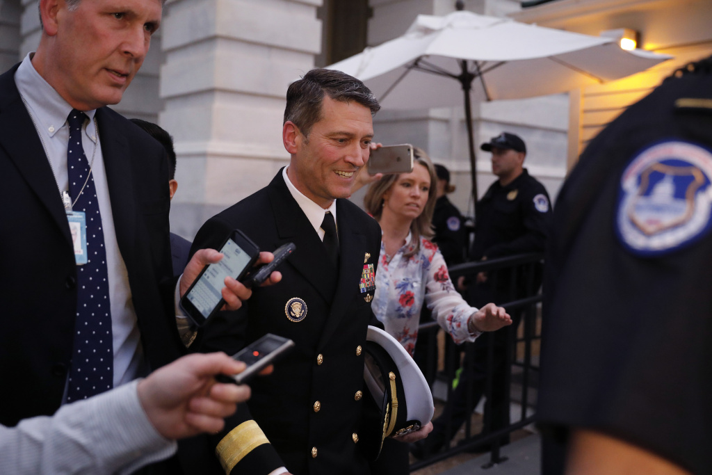 Veterans Affairs Secretary Nominee Dr. Ronny Jackson departs the U.S. Capitol April 25, 2018 in Washington, DC.