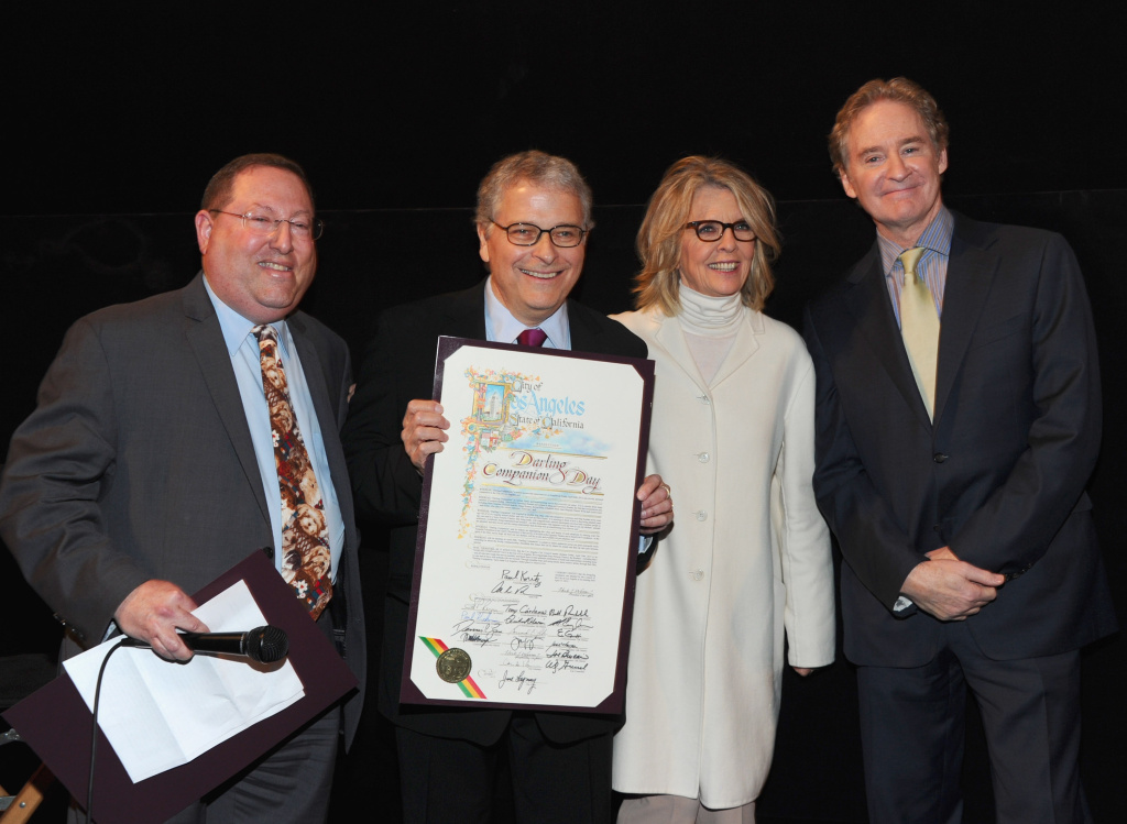 Councilman Paul Koretz, director/co-writer Lawrence Kasdan, actress Diane Keaton and actor Kevin Kline attend the Los Angeles premiere of Sony Pictures Classics'