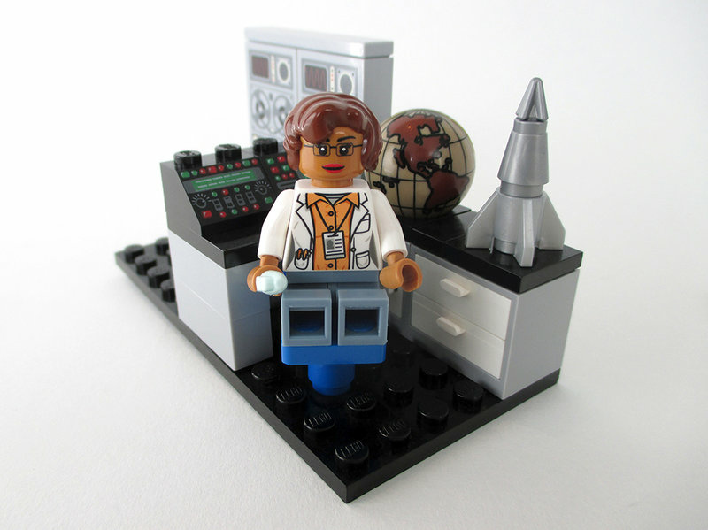 A Lego figure of mathematician and space scientist Katherine Johnson, whose story was featured in the recent film