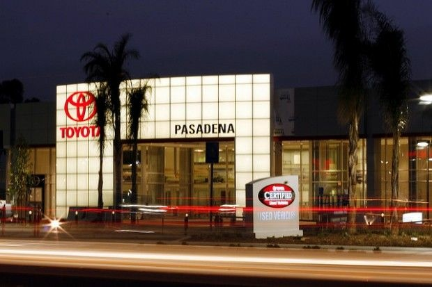 Outside a local Toyota dealership, March 2007