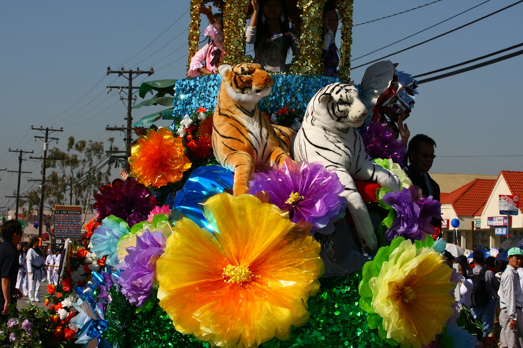 A float from the 2010 Vietnamese Tet Parade in Orange County.