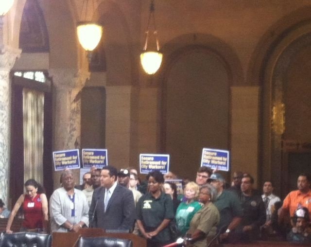 The Coalition of LA City Unions wants city employees and contractors to make $15/hour.