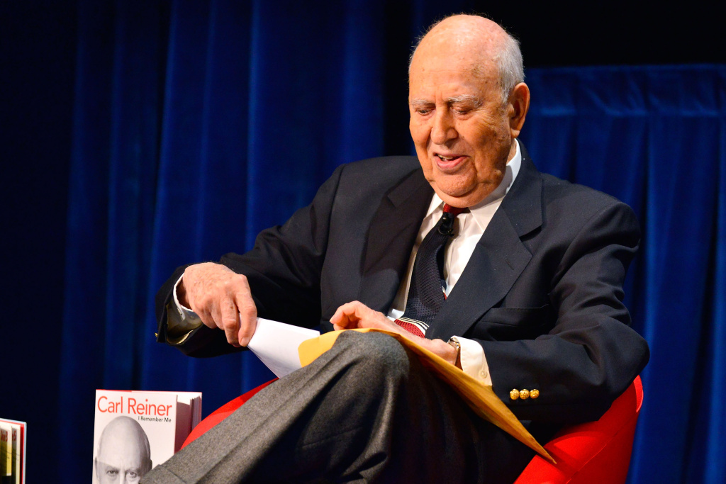 Carl Reiner participates in the Comedy Central #ComedyFest Kick-Off with Mel Brooks, Carl Reiner and Judd Apatow at The Paley Center for Media on April 29, 2013 in Beverly Hills, California.