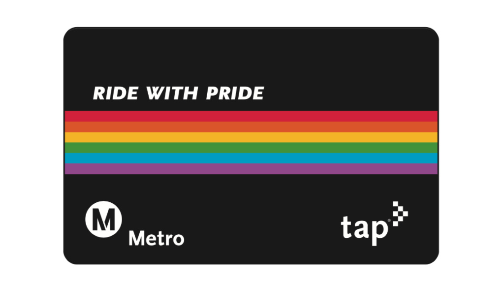Limited edition Pride TAP cards will be available at specific times and locations surrounding LGBT celebrations throughout the summer.